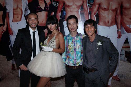 Model Doan Tuan, Ha Anh, Designer Hoang Hai, and unknown