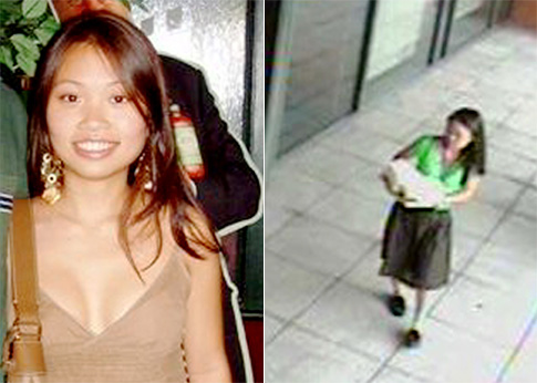 Annie Le, a 24-year-old graduate student at Yale, is last seen in photo still from a surveillance camera (r.).  Read more: http://www.nydailynews.com/news/ny_crime/2009/09/10/2009-09-10_yale_grad_student_annie_le_disappears_5_days_before_wedding.html#ixzz0RJWr9VN5