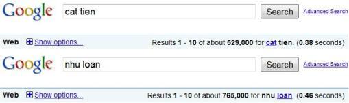 cat tien nhu loan google